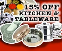 15% OFF Kitchen & Tableware...