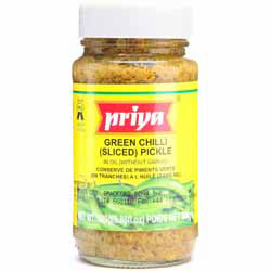 how to make green chilli pickle indian