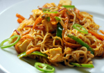 Vegetable Noodles with Karaara Sauce